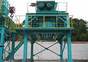 バンカー(貯留ホッパ)付属破砕機設置事例